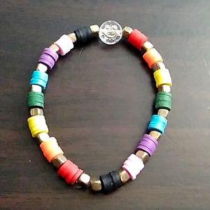 Rainbow preppy bracelet
